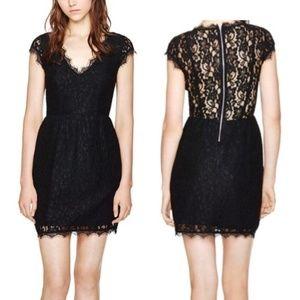 Aritzia Black Tobias Lace Dress